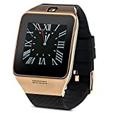 Padgene NFC Bluetooth Smart Watch for Samsung S3 / S4 / S5 / Note 4, HTC, LG, iPhone (Partial Functions) and other Android Smartphones, Gold