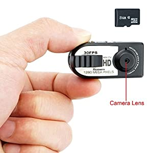 Toughsty™ 8GB 1280x720P HD Portable Mini DV Camcorder Mo8GB 1280x720P HD Portable Mini Hidden Camera Motion Activated DV Camcorder Video Recorder Support Audio Recording Size 45x15x16mm