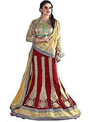 Khushi Trendz Women's Net Semi-Stitched Lehenga Choli Set_KT9181_Multicolored_Freesize