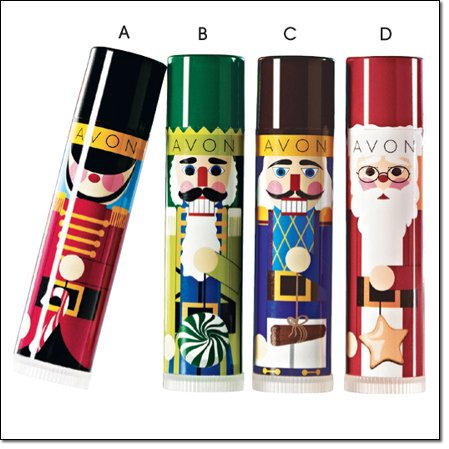 Avon Lipbalm Holiday Winter Treats Candy Cane Toy Soldier