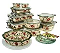Temp-tations Old World 24-piece Complete Oven- To-table Set, Poinsetta