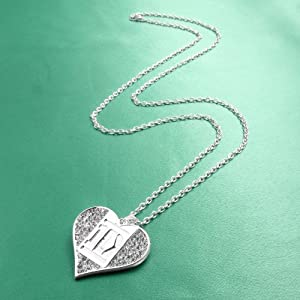 One Direction '1D' Crystal Heart Necklace from BY GIOIA