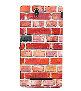 EPICCASE Brick wall Mobile Back Case Cover For Sony Xperia C3 (Designer Case)