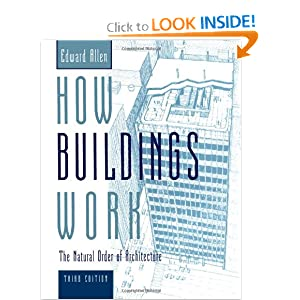 Click here to buy How Buildings Work: The Natural Order of Architecture by Edward Allen and David Swoboda.