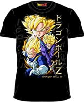 Dragonball Z Super Sayain Vegeta Black Adult Tee T-Shirt
