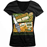 Dirty Dicks Auto Repair, Hot Rod Ladies Junior Fit V-neck T-shirt (Black, Large)