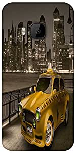 Snoogg New York City Cab 2671 Designer Protective Back Case Cover For HTC M9