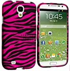 myLife Hot Pink Zebra Stripes Series (2 Piece Snap On) Hardshell Plates Case for the Samsung Galaxy S4 Fits Models: I9500, I9505, SPH-L720, Galaxy S IV, SGH-I337, SCH-I545, SGH-M919, SCH-R970 and Galaxy S4 LTE-A Touch Phone (Clip Fitted Front and Back Solid Cover Case + Rubberized Tough Armor Skin)