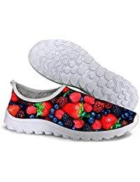 FOR U DESIGNS Vintage Womens Breathable Mesh Soft EVA Sole Lightweight Running Walk Outdoor Shoes
