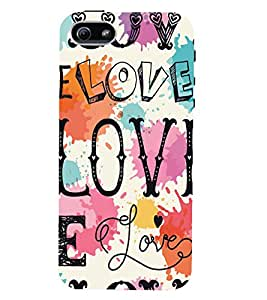 Kingcase Printed Back Case Cover For Apple I Phone 4/4S - Multicolor