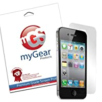 myGear Products LifeGuard Screen Protector Film for iPhone 4 & 4S - (1 Pack) Clear