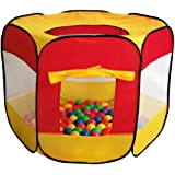 100-Pit-Ball Play Tent Popup Hexagon Mesh Kids House Twist Pool