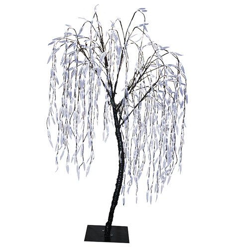 65 pre lit led christmas willow tree outdoor yard art decoration cool white - Outdoor Prelit Christmas Tree