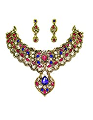 ANTIQUE GOLD PLATED NECKLACE SET BY ZAVERI PEARLS
