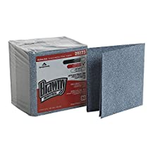 "Brawny Industrial 29223 Blue Medium Duty All Purpose Airlaid Poly Pack 1/4 Fold Wiper, 13"" Length x 13"" Width, 50-Count Pack, Case of 8"