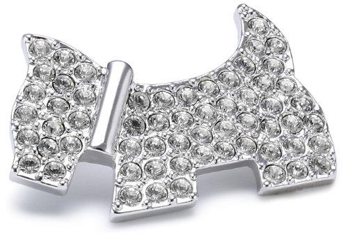 Rhodium Plated Swaroski Crystal Scottie Dog Brooch