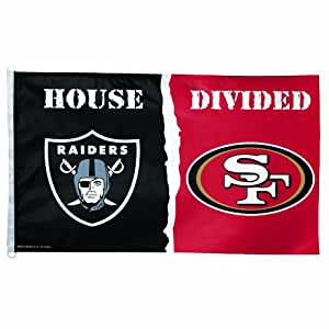 Nfl house divided flag team oakland raiders for Outboard motor shop oakland