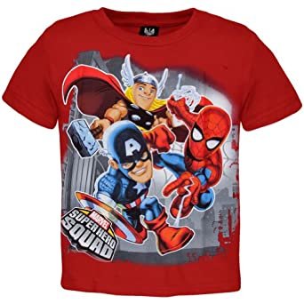 Amazon.com: Marvel Super Hero Squad - Sentinetal Youth T-Shirt: Movie