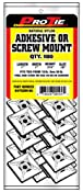 Pro Tie N1PSSM100 1-Inch Adhesive or Screw Mount Cable Tie Mount, Natural Nylon, 100-Pack - Amazon.com