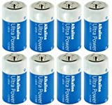 Alkali Batteries Baby C LR14 - High Quality - HQ-ALK-C-01 -08 - Height: 49.5 mm Diameter: 25.5 mm - Pack of 8