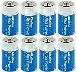 Alkali Batteries Baby C LR14 - High Quality - HQ-ALK-C-01 -08 - Height: 49.5 mm Diameter: 25.5 mm - Pack of 8