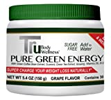 Pure Green Energy Drink Powder, Grape Flavor, 30 Servings. Energy and Weightloss Together and Sugar Free, Just Add Water