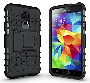 Noise Rugged Dual Layer Kickstand Hybrid Warrior Case Back Cover for Samsung Galaxy S5