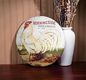 The Round Rooster Morningside Grain & Seed Co. Metal Sign