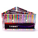 Tanmit 100 Gel Pens with Foldable Case, Colors Included: Classic Glitter, Neon, Metallic, Standard, Symhony, Pastel & Fluorescent