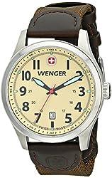 Wenger Men's 0541.108 Analog Display Swiss Quartz Green Watch