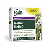 Gaia Herbs RapidRelief Reflux Relief, 24 Tablets (Pack of 2)
