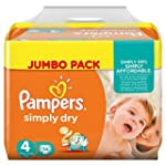 Pampers Couches Simply Dry Jumbo Pack...