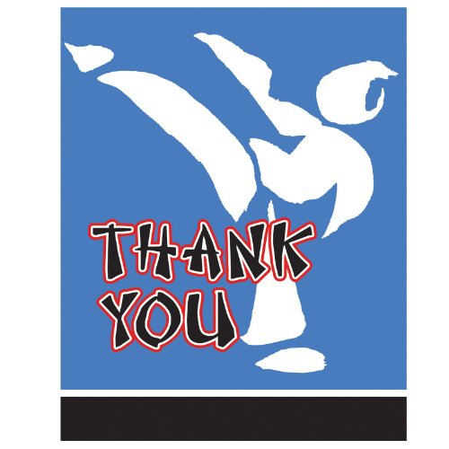 Black Belt Thank-You Cards (8 count) - 1