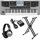 Korg Pa900 Arranger BONUS PAK w/ Keyboard Stand, Headphones & Pedal