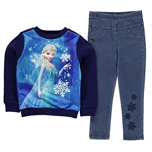 Character Ragazze Jegging Set 2 Pezzi Bambine Felpa Pantaloni Elasticizzati Top Disney Frozen 7-8 Yrs