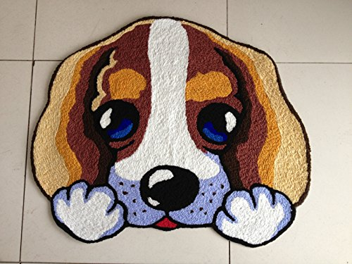 YOYOMALL Dog Imprint Anti-slip Mat Cute Doormat Colorful Hand-embroidered Floor Mats Personalized Custom Carpets