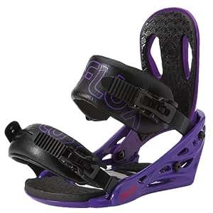 Flux Mens PR15 Snowboard Bindings (Violet, Medium),PR15