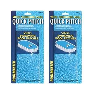 Poolmaster 30278 Underwater Swimming Pool Vinyl Liner Repair Patch Kit 2 Pack