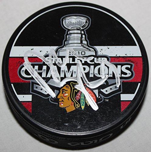 Dustin Byfuglien Signed Chicago Blackhawks 2010 Stanley Cup Champions Puck COA