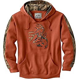 Legendary Whitetails Men\'s Realtree Camo Outfitter Hoodie Texas Orange Large Tall