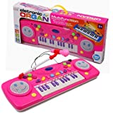 25 Key Multifunction Electronic Organ Piano Toy - Includes Microphone (Pink) Toy For Girls