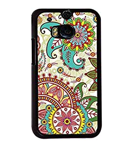 Multi Colour Pattern 2D Hard Polycarbonate Designer Back Case Cover for HTC One M8 :: HTC M8 :: HTC One M8 Eye :: HTC One M8 Dual Sim :: HTC One M8s