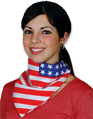 Patriotic USA American Flag Costume Bandana Head Scarf