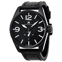 Brooklyn Watch Company Lafayette Black Dial Black Leather Swiss Quartz Mens Watch CLA-F