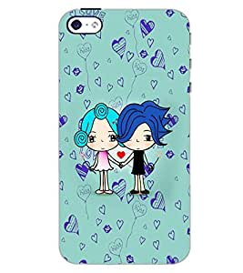 PrintDhaba LOVE COUPLE D-6325 Back Case Cover for APPLE IPHONE 5S (Multi-Coloured)