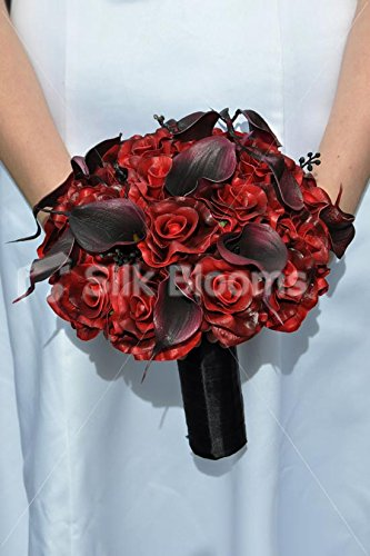 rose-noir-rouge-fonce-calla-lily-bouquet-de-mariee-gothique