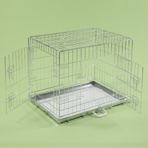 36-dog-cages-puppy-crate-large-silver-cat-folding-metal-cage-36-x-24-x-26