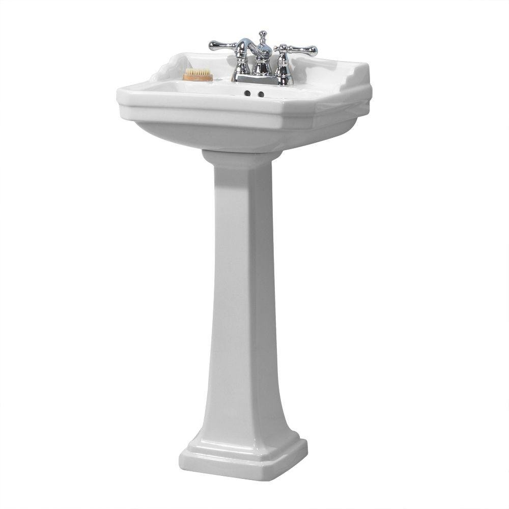 Foremost Group FL-1920-4W Foremost Series 1920 Pedestal Combo Bathroom Sink, White 0