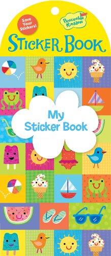 Peaceable Kingdom My Sticker Book Sunny Days Little Sticker Keeper