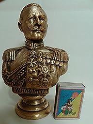 GERMAN EMPEROR WILHELM II METAL BUST STATUE H=16cm